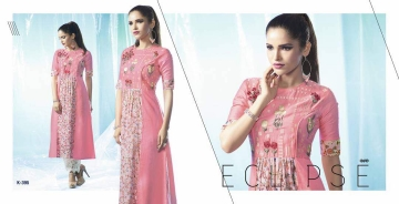 ETERNAL ARTERY DESGINER COTTON LONG KURTI WHOLESALE RATE AT GOSIYA EXPORTS SURAT (7)