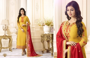 FIONA FASHION AAYESHA VOL 21 CATALOG GEORGETTE SUITS WITH HEAVY DUPATTA PARTY WEAR (4)
