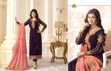 FIONA FASHION AAYESHA VOL 21 CATALOG GEORGETTE SUITS WITH HEAVY DUPATTA PARTY WEAR (5)