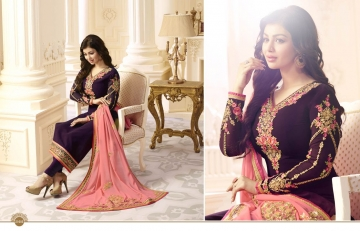 FIONA FASHION AAYESHA VOL 21 CATALOG GEORGETTE SUITS WITH HEAVY DUPATTA PARTY WEAR (6)