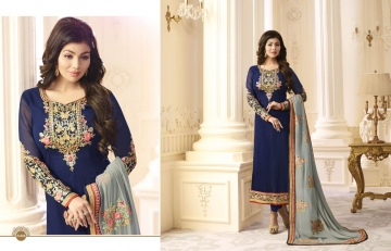 FIONA FASHION AAYESHA VOL 21 CATALOG GEORGETTE SUITS WITH HEAVY DUPATTA PARTY WEAR (7)