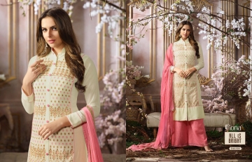 FIONA FASHION SAJEDHA CATALOGUE GEORGETTE STRAIGHT PATTERN E (1)