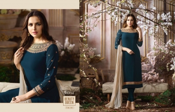 FIONA FASHION SAJEDHA CATALOGUE GEORGETTE STRAIGHT PATTERN E (2)
