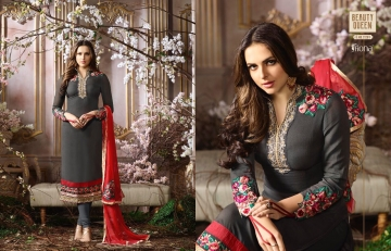 FIONA FASHION SAJEDHA CATALOGUE GEORGETTE STRAIGHT PATTERN E (4)