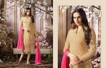 FIONA FASHION SAJEDHA CATALOGUE GEORGETTE STRAIGHT PATTERN E (5)