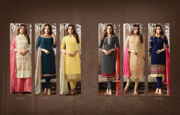 FIONA FASHION SAJEDHA CATALOGUE GEORGETTE STRAIGHT PATTERN E (7)