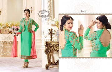 FIONA FASHION VOL 20 GEORGETTE EMBROIDERED WITH JACKET DESIGNER PARTY WEAR SALWAR KAMEEZ WHOLESAL (4097)