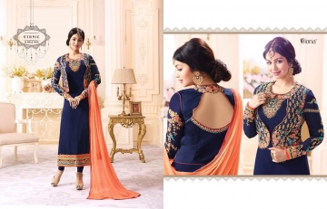 FIONA FASHION VOL 20 GEORGETTE EMBROIDERED WITH JACKET DESIGNER PARTY WEAR SALWAR KAMEEZ WHOLESAL (4098)