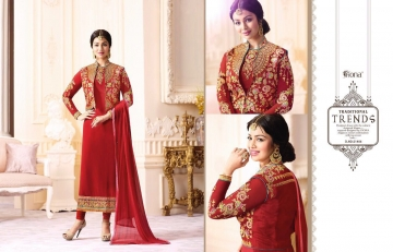 FIONA FASHION VOL 20 GEORGETTE EMBROIDERED WITH JACKET DESIGNER PARTY WEAR SALWAR KAMEEZ WHOLESAL (4100)