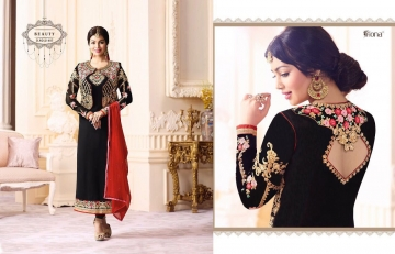 FIONA FASHION VOL 20 GEORGETTE EMBROIDERED WITH JACKET DESIGNER PARTY WEAR SALWAR KAMEEZ WHOLESAL (4101)