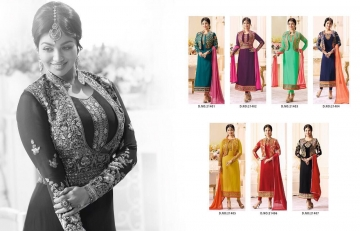 FIONA FASHION VOL 20 GEORGETTE EMBROIDERED WITH JACKET DESIGNER PARTY WEAR SALWAR KAMEEZ WHOLESAL (4104)
