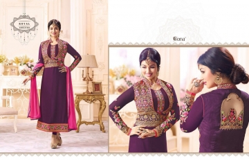FIONA FASHION VOL 20 GEORGETTE EMBROIDERED WITH JACKET DESIGNER PARTY WEAR SALWAR KAMEEZ WHOLESAL