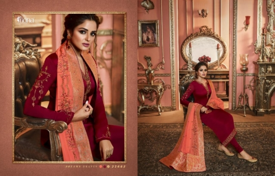 FIONA NAISHA 22661-22667 SERIES EXCLUSIVE DESIGNER INDIAN DRESSES WOMEN CLOTHING STORE WHOLESALE DEALER BEST RATE BY GOSIYA (17)