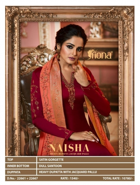 FIONA NAISHA 22661-22667 SERIES EXCLUSIVE DESIGNER INDIAN DRESSES WOMEN CLOTHING STORE WHOLESALE DEALER BEST RATE BY GOSIYA