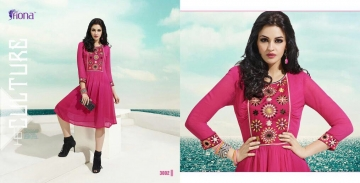 FIONA PEARL GEORGETTE KURTI CATALOG AT DISCOUNTED PRICE ON FULL SET BEST RATE (2)