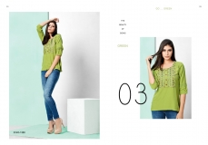 FIONA VOL 5 NX MRIGYA RAYON PRINTED SHORT TOPS WITH EMBROIDARY WORK WHOLESALE DEALER BEST RATE BY GOSIYA EXPORTS SURAT (8)