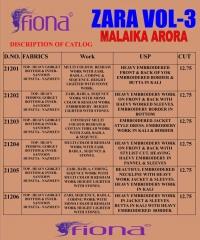 FIONA ZARA VOL 3 MALAIKA ARORA WESTERN SALWAR KAMIZ WHOLESALE BEST RATE FROM BY GOSIYA EXPORTS (10)