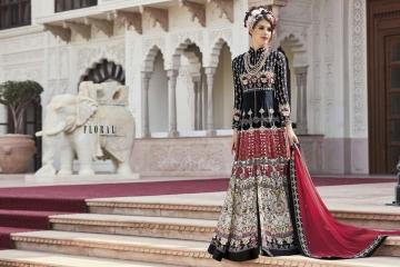 Floral raabta designer digital printed salwar gowns BY GOSIYA EXPORTS (1)