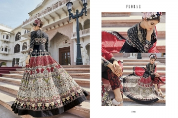 Floral raabta designer digital printed salwar gowns BY GOSIYA EXPORTS (3)