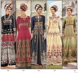 Floral raabta designer digital printed salwar gowns BY GOSIYA EXPORTS (8)