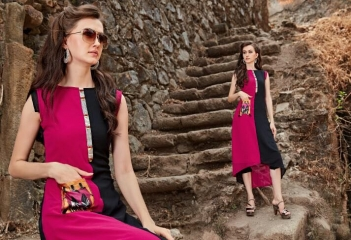 FOUR BUTTONS HAZEL FANCY DESIGNER KURTIS CATALOG BUT DESIGNER KURTIS IN WHOLESALE BEST RATE BY GOSIAY EXPORTS SURAT (1)