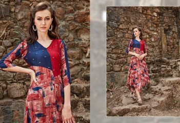 FOUR BUTTONS HAZEL FANCY DESIGNER KURTIS CATALOG BUT DESIGNER KURTIS IN WHOLESALE BEST RATE BY GOSIAY EXPORTS SURAT (10)