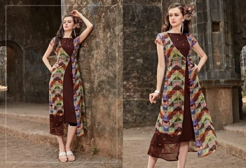 FOUR BUTTONS HAZEL FANCY DESIGNER KURTIS CATALOG BUT DESIGNER KURTIS IN WHOLESALE BEST RATE BY GOSIAY EXPORTS SURAT (2)