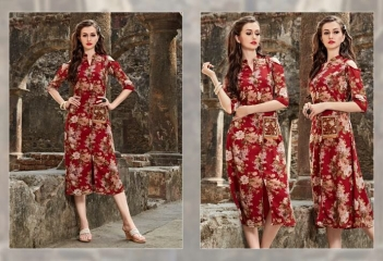 FOUR BUTTONS HAZEL FANCY DESIGNER KURTIS CATALOG BUT DESIGNER KURTIS IN WHOLESALE BEST RATE BY GOSIAY EXPORTS SURAT (6)