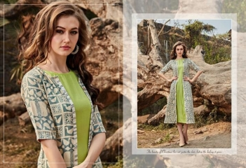 FOUR BUTTONS HAZEL FANCY DESIGNER KURTIS CATALOG BUT DESIGNER KURTIS IN WHOLESALE BEST RATE BY GOSIAY EXPORTS SURAT (7)