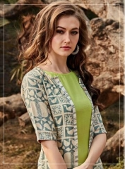 FOUR BUTTONS HAZEL FANCY DESIGNER KURTIS CATALOG BUT DESIGNER KURTIS IN WHOLESALE BEST RATE BY GOSIAY EXPORTS SURAT