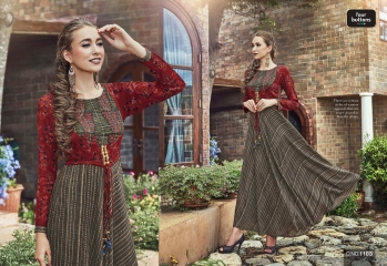 Four buttons solitaire kurties Collection Wholesale rate suppliers BEST RATE BY GOSIYA EXPORTS SURAT (13)