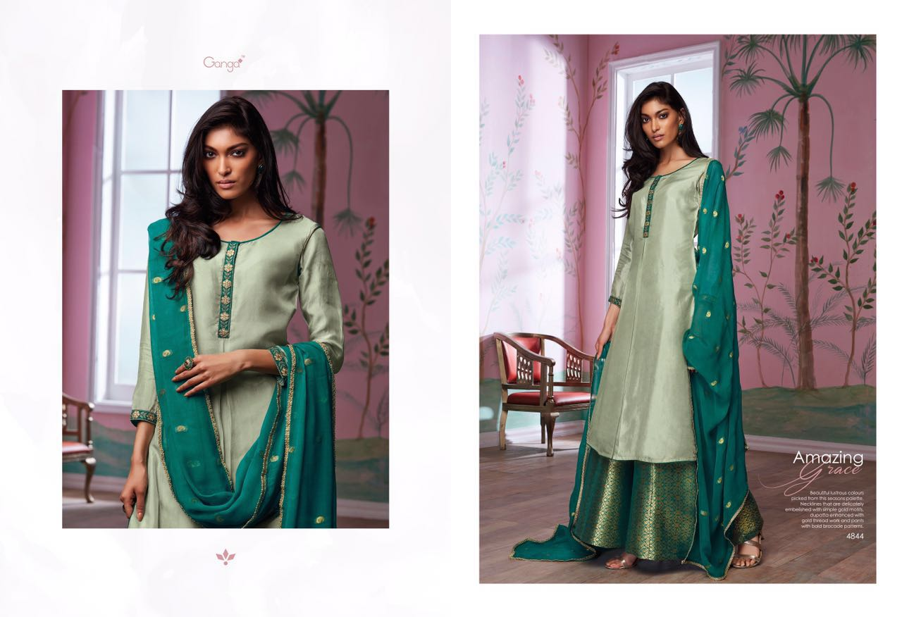 532d442dd5 GANGA AMAZING GRACE THAI SILK SUIT WHOLESALE BEST RATE BY GOSIYA EXPORTS  EXPORTER SURAT (2