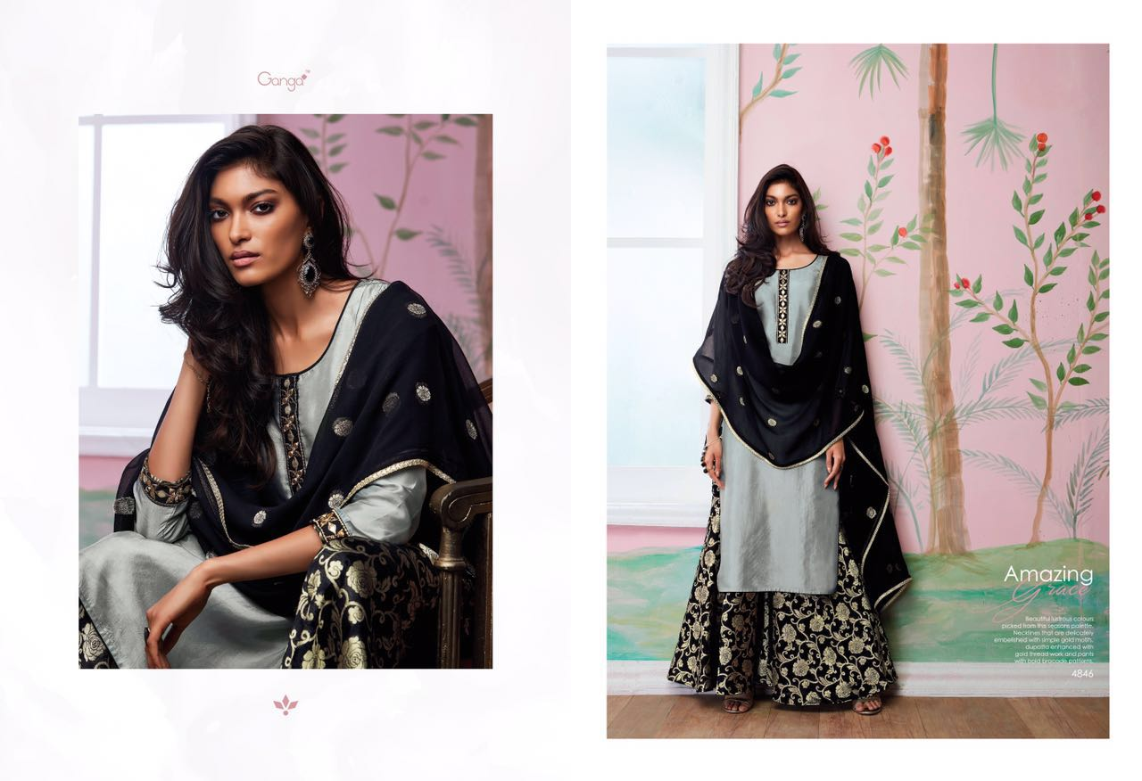 4f474d1044 GANGA AMAZING GRACE THAI SILK SUIT WHOLESALE BEST RATE BY GOSIYA EXPORTS  EXPORTER SURAT (4