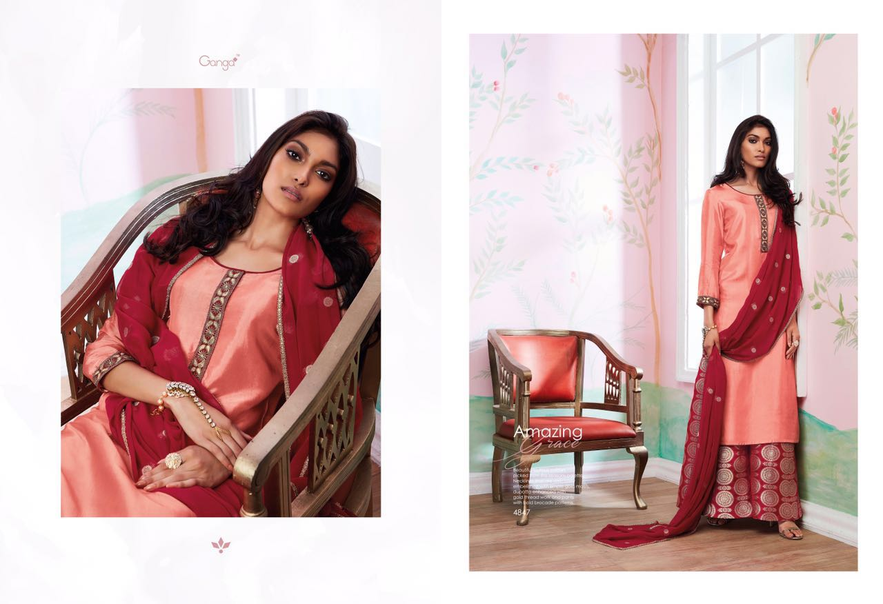 8cd047aceb GANGA AMAZING GRACE THAI SILK SUIT WHOLESALE BEST RATE BY GOSIYA EXPORTS  EXPORTER SURAT (5