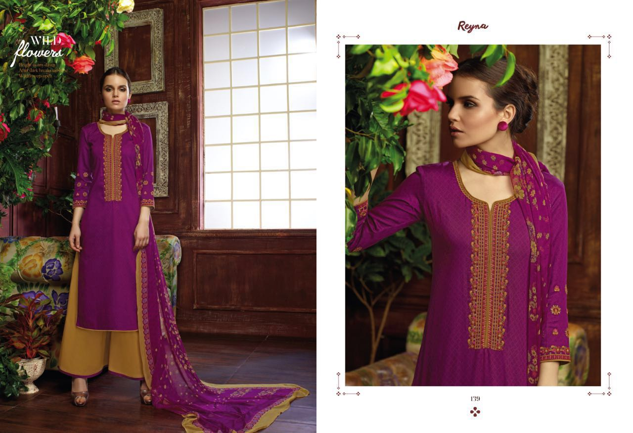 6a49e6fa39 GANGA BY REYNA COTTON SATIN SALWAR KAMEEZ ONLINE SURAT WHOLESALE BEST RATE  BY GANGA FASHION (