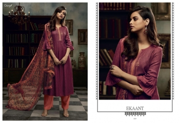 GANGA EKANT COTTON PRINTS WITH EMBROIDERED STRAIGHT PARTY WEAR COLLECTION T (1)