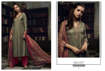 GANGA EKANT COTTON PRINTS WITH EMBROIDERED STRAIGHT PARTY WEAR COLLECTION T (2)