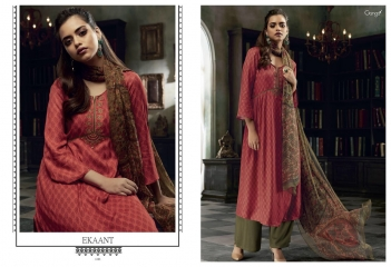 GANGA EKANT COTTON PRINTS WITH EMBROIDERED STRAIGHT PARTY WEAR COLLECTION T (3)