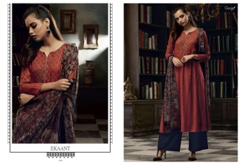 GANGA EKANT COTTON PRINTS WITH EMBROIDERED STRAIGHT PARTY WEAR COLLECTION T (6)