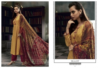 GANGA EKANT COTTON PRINTS WITH EMBROIDERED STRAIGHT PARTY WEAR COLLECTION T (9)