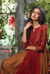 GANGA LATEST CATALOG 2014 FANY GOWN LONG SUIT GANGA CATALOG WHOLESALE BEST ARTE BY GOSIYA EXPORTS (4)
