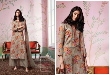GANGA FLOWERS IN THE WINDOW NATURAL SILK FLOWERY PRINT SALWAR SUIT GANGA CATALOG WHOLESALE RATE BY GOSIYA EXPORTS (2)