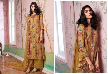 GANGA FLOWERS IN THE WINDOW NATURAL SILK FLOWERY PRINT SALWAR SUIT GANGA CATALOG WHOLESALE RATE BY GOSIYA EXPORTS (3)