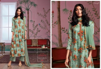 GANGA FLOWERS IN THE WINDOW NATURAL SILK FLOWERY PRINT SALWAR SUIT GANGA CATALOG WHOLESALE RATE BY GOSIYA EXPORTS (4)
