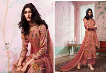 GANGA FLOWERS IN THE WINDOW NATURAL SILK FLOWERY PRINT SALWAR SUIT GANGA CATALOG WHOLESALE RATE BY GOSIYA EXPORTS (6)