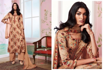 GANGA FLOWERS IN THE WINDOW NATURAL SILK FLOWERY PRINT SALWAR SUIT GANGA CATALOG WHOLESALE RATE BY GOSIYA EXPORTS (7)