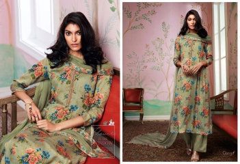 GANGA FLOWERS IN THE WINDOW NATURAL SILK FLOWERY PRINT SALWAR SUIT GANGA CATALOG WHOLESALE RATE BY GOSIYA EXPORTS (8)