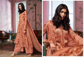 GANGA FLOWERS IN THE WINDOW NATURAL SILK FLOWERY PRINT SALWAR SUIT GANGA CATALOG WHOLESALE RATE BY GOSIYA EXPORTS (9)