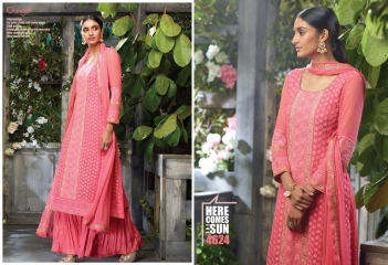 GANGA PRESENTS THE SUN PURE GEORGETTE SALWAR KAMEEZ WHOLESALE (6)