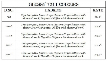 GLOSSY 7211 COLOURS BY GLOSSY 7211 TO 7211D SERIES INDIAN BEAUTI (5)